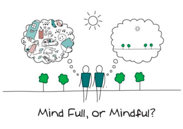 Hypnotherapy and Mindfulness. mindful or mind full pic